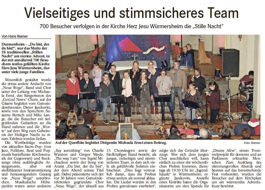 Presse Stille Nacht